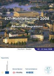 ICT-MobileSummit 2008 - Future Network & Mobile Summit