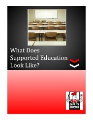 What Does Supported Education Look Like? - CAFÉ TA Center