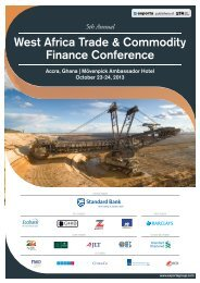 West africa trade & Commodity finance Conference - JLT