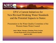 EPA's Current Initiatives for New/Revised Drinking Water Standards ...