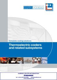Thermoelectric coolers and related subsystems - Steadlands