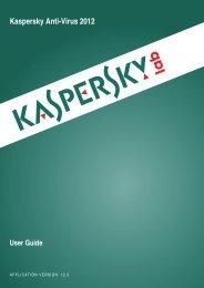 Kaspersky Anti-Virus 2012 User Guide