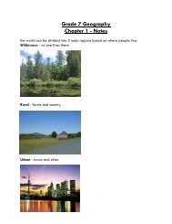 Grade 7 Geography Chapter 1 - Notes