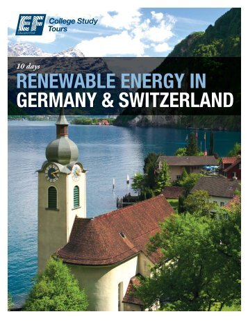 renewable energy in germany & switzerland - EF College Study Tours