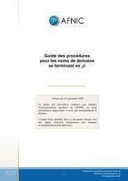 Guide des procédures pour les noms de domaine .fr - Afnic