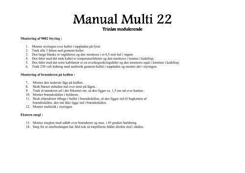 Manual Multi 22 - Fyrteknik