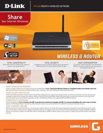 WIRELESS G ROUTER - Mercado Actual