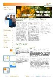 Il nostro editoriale gennaio 2008 - Tecno Energysun