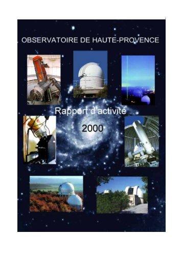 Untitled - Observatoire de Haute-Provence