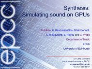 Synthesis: Simulating sound on GPUs