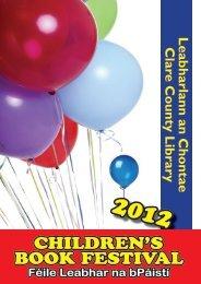 Children's Book Festival Programme 2012 (pdf file) - Clare County ...