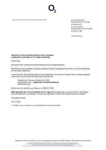 Nachweis für die Sonderkonditionen Ihres ... - MFK-Handys.de