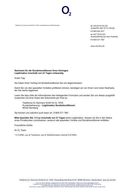Nachweis für die Sonderkonditionen Ihres - MFK-Handys.de
