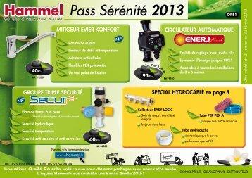 Pass Sérénité 2013 - Robinetterie Hammel