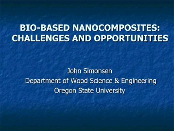 bio-based nanocomposites: challenges and opportunities