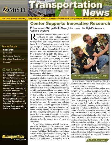 MiSTI Volume 5 No. 2 - Michigan Technological University