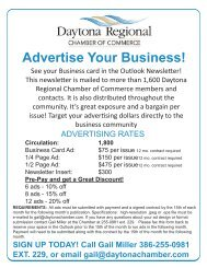 advertise with us in the outlook - Daytona Beach Chamber of ...