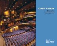 Zellerbach Hall Case Study - Meyer Sound Laboratories Inc.