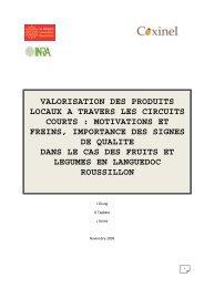 valorisation des produits locaux a travers les ... - INRA Montpellier