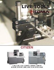 Citizen Swiss Live Tools - Koma Precision, Inc.