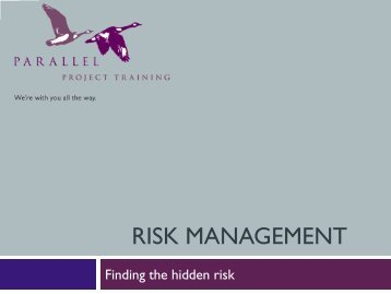 The real risks of projects - Association for Project Management