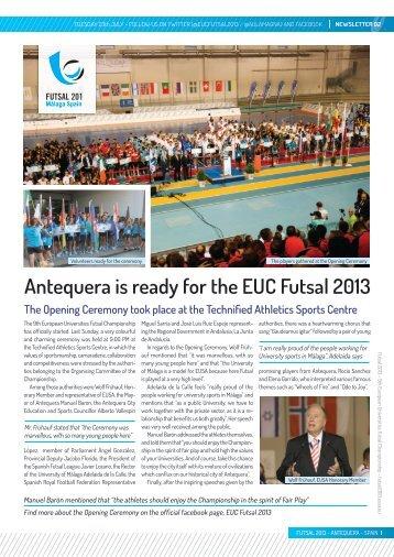 Newsletter 2 - European Universities Futsal Championship 2013