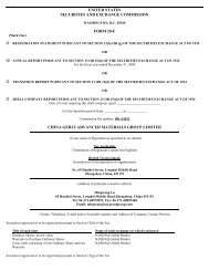 China Gerui Advanced Materials Group Ltd (Form: 20-F, Received ...