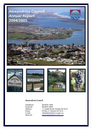 Alexandrina Council Annual Report 2004/2005