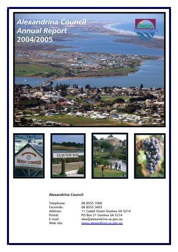 Alexandrina Council Annual Report 2004/2005