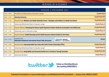 AGENDA AT-A-GLANCE - World Congress