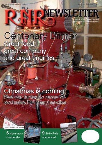 Issue 63, Autumn 2009 - Russell Newbery Register