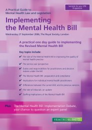 Implementing the Mental Health Bill