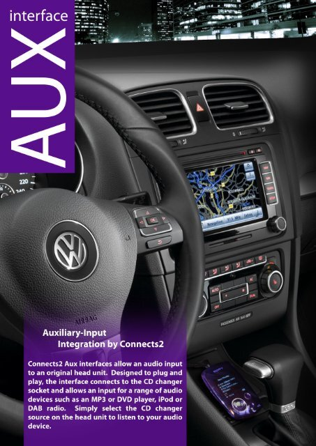 CTVVGX003 VW AUX adapter lead 3.5mm jack in car radio iPod iPhone MP3 auxiliary