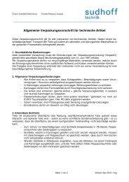 Verpackungsvorschrift - sudhoff technik GmbH