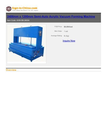 Semi-Auto Acrylic Vacuum Forming Machine - Sign in China