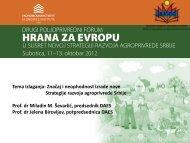 Prof. dr Miladin Ševarlić, predsednik i prof. dr Jelena Birovljev ...