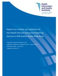 Follow up inspection of the HSE Fostering Service - hiqa.ie