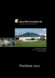 Preisliste 2011 - Baustoffe Einsiedeln AG
