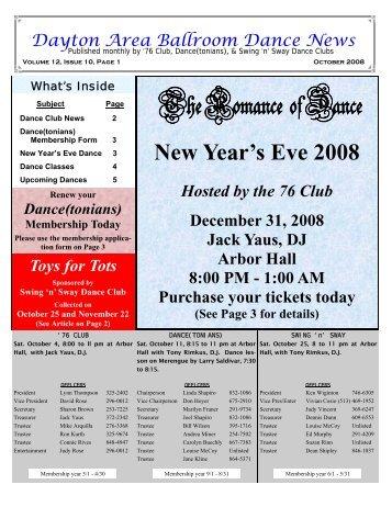 12 10October2008Newsletter - Ballroom Dance Dayton