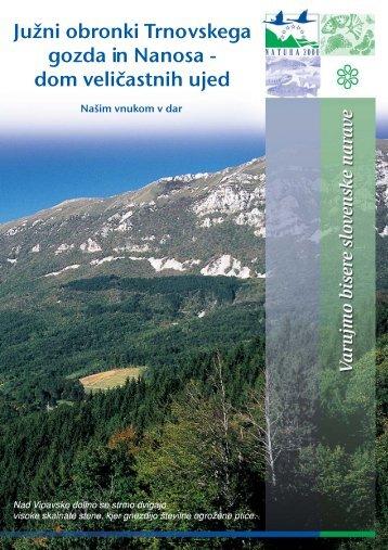 Južni obronki Trnovskega gozda in Nanosa - Natura 2000