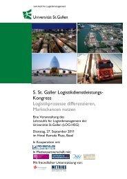 5. St. Galler Logistikdienstleistungs-Kongress - METRIKS SCHWEIZ ...