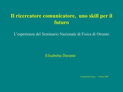 Presentazione di PowerPoint - Comunicare Fisica