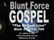 You Gotta Deal Mark 1:9-20 p. 707 - Faith Fellowship Church