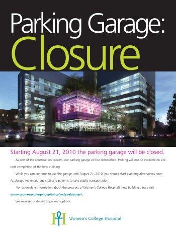WCH_parking flyer.pdf - Women's College Hospital