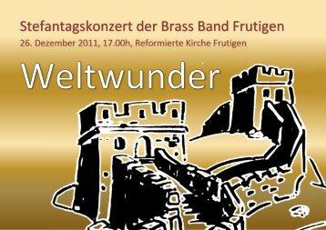 stefanstagkonzert_flyer_2011 - Brass Band Frutigen