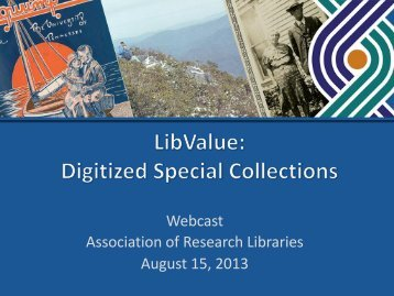 LibValue: Digitized Special Collections - LibQUAL+