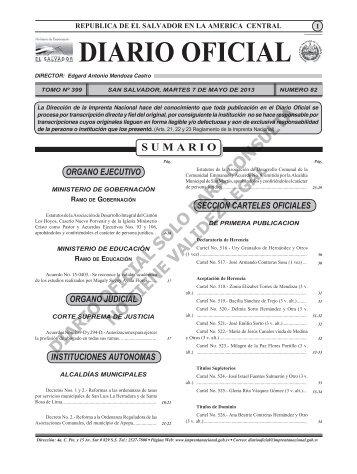 07 - Diario Oficial de la República de El Salvador