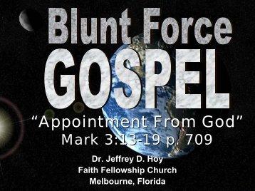 You Gotta Deal Mark 1:9-20 p. 707 - Faith Fellowship Church