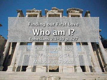 Finding our First Love Who am I? - Faith Fellowship Church