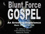 An Arresting Experience - Faith Fellowship Church